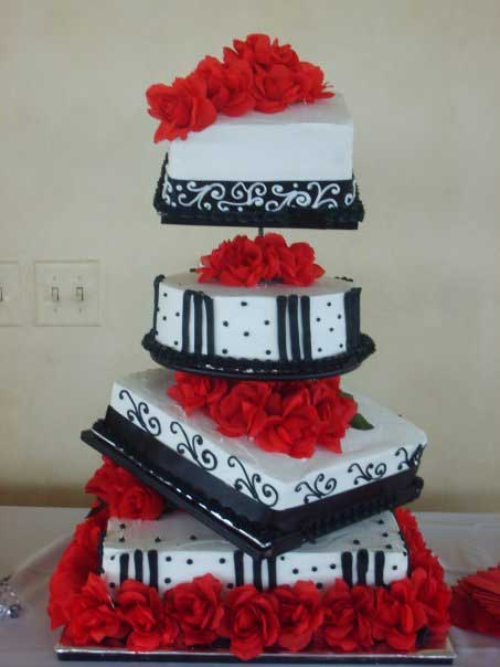 black-red-wedding-cake - Plaza Lecea