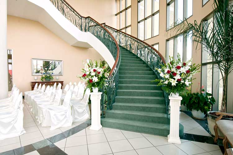 Atrium Front Wedding Venue