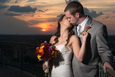 Wedding Event Venue San Antonio Sunset Kiss